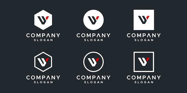 Kolekcja szablonów logo listu vy