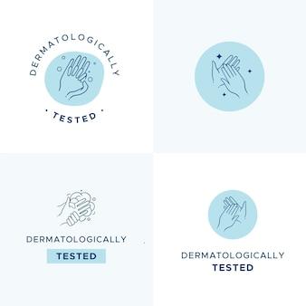 Kolekcja szablonów logo mydła