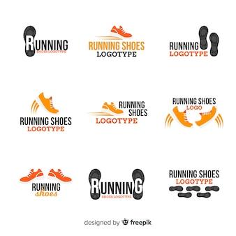 Kolekcja szablonów logo nowoczesne buty sportowe