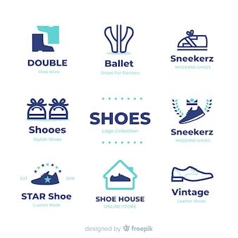 Kolekcja szablonów logo nowoczesne buty