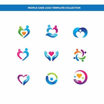 Kolekcja szablonów logo opieki osób