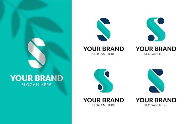 Kolekcja szablonów logo płaska konstrukcja s