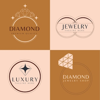 Kolekcja szablonów logo płaski pierścień