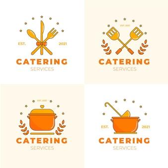 Kolekcja szablonów logo płaskiego cateringu