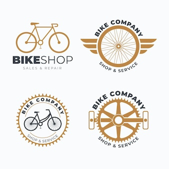 Kolekcja szablonów logo roweru