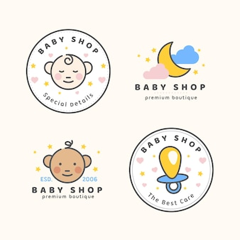 Kolekcja szablonów logo słodkie dziecko