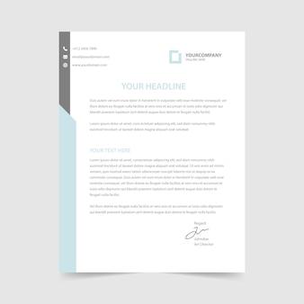 Kolekcja szablonów papieru firmowego