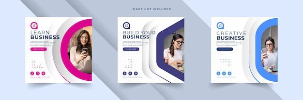 Kolekcja szablonów postów agencji marketingu cyfrowego biznesu