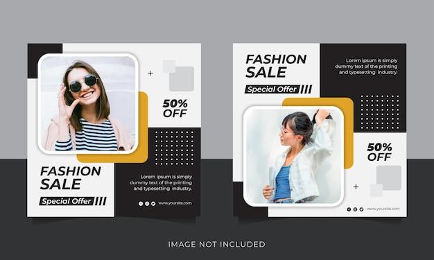 Kolekcja szablonów postów na instagramie sprzedaży mody