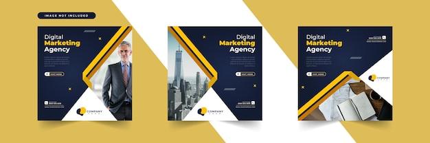 Kolekcja szablonów postów w mediach społecznościowych marketingu cyfrowego