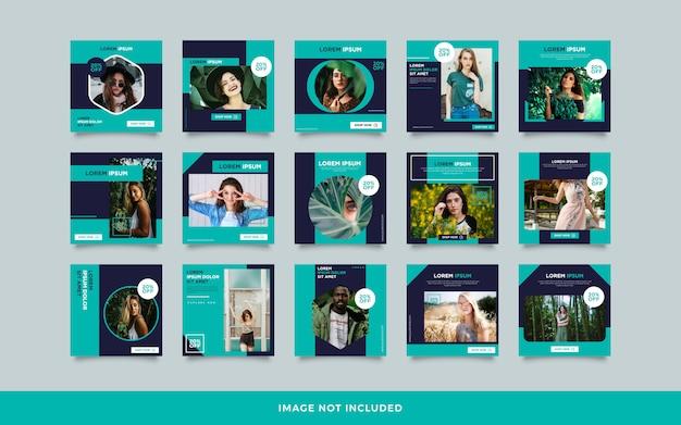Kolekcja szablonów postów w mediach społecznościowych