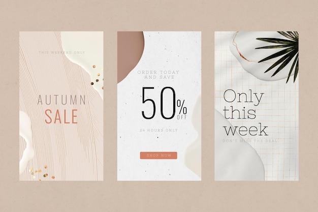 Kolekcja szablonów sprzedaży mody