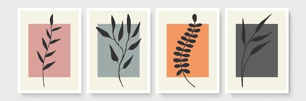 Kolekcja szablonów streszczenie transparent organicznych. minimalne tło w stylu boho z miejsca kopiowania tekstu. ilustracja do okładki, pocztówki, tapety, grafiki ściennej