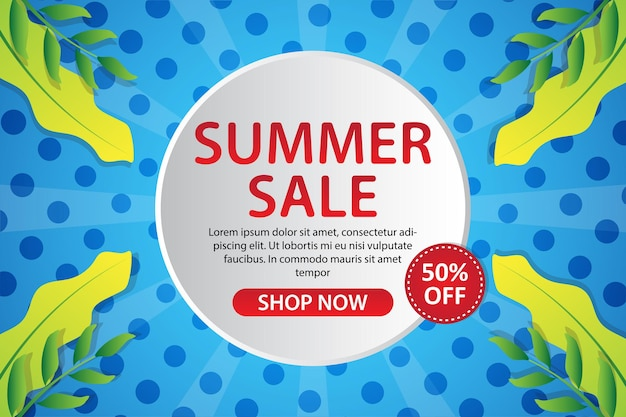 Kolekcja szablonów transparent tropikalnej sprzedaży lato