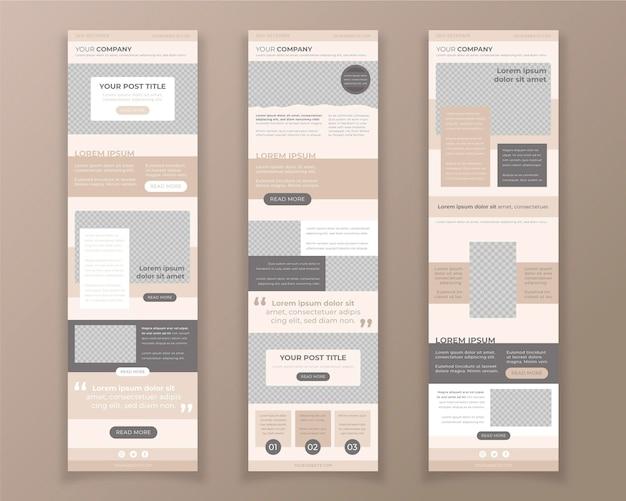 Kolekcja szablonów wiadomości e-mail w bloggerze