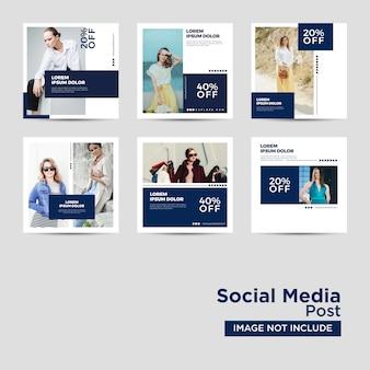 Kolekcja szablonów wiadomości w mediach społecznościowych