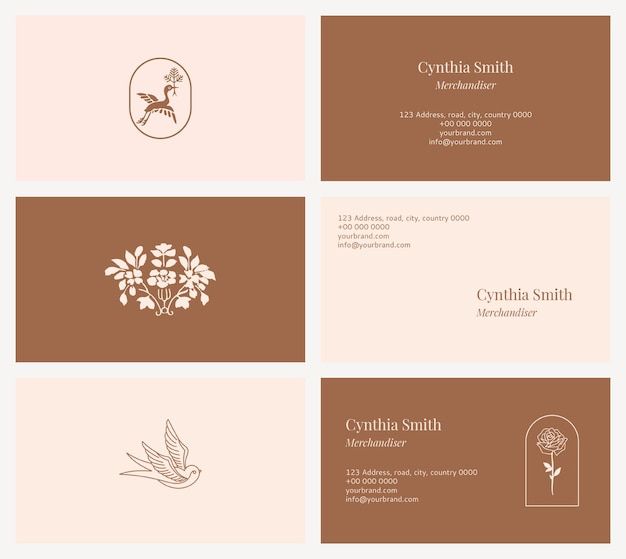 Kolekcja szablonów wizytówek mody