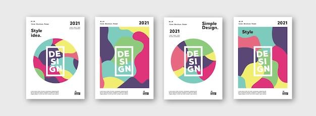 Kolekcja szablonów wzorów do brandingu obejmuje plakat pakietu projektu układu