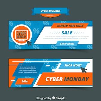 Kolekcja szablonu baner cyber poniedziałek