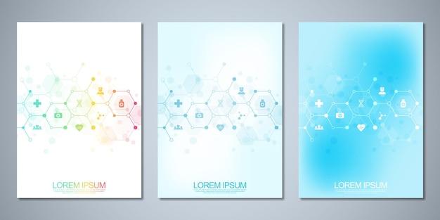 Kolekcja szablonu broszury lub książki okładkowej