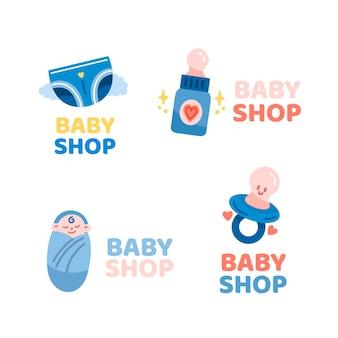 Kolekcja szablonu logo dziecka