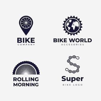 Kolekcja szablonu logo roweru