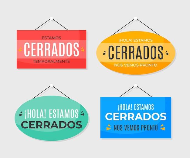Kolekcja szyldów płaskich cerrado