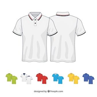 Kolekcja t-shirtów 2d w różnych kolorach