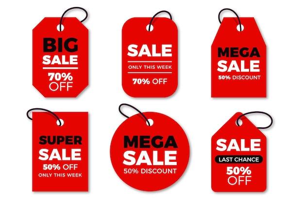 Kolekcja tagów sprzedaż płaska konstrukcja