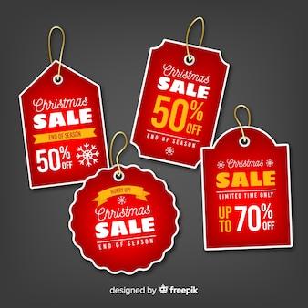 Kolekcja tagów świątecznej sprzedaży