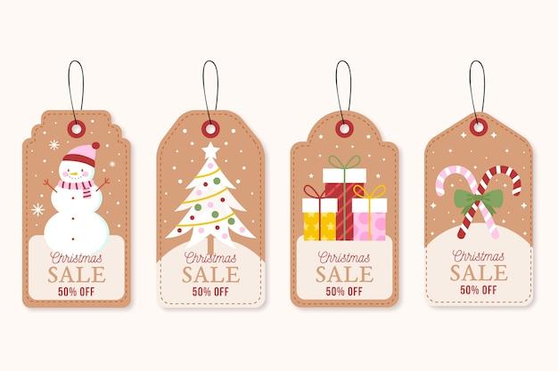 Kolekcja tagów vintage christmas sale