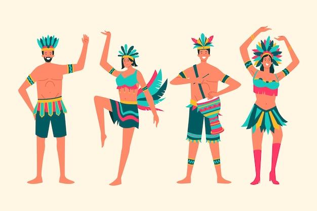 Kolekcja tancerki karnawałowej z brazylii