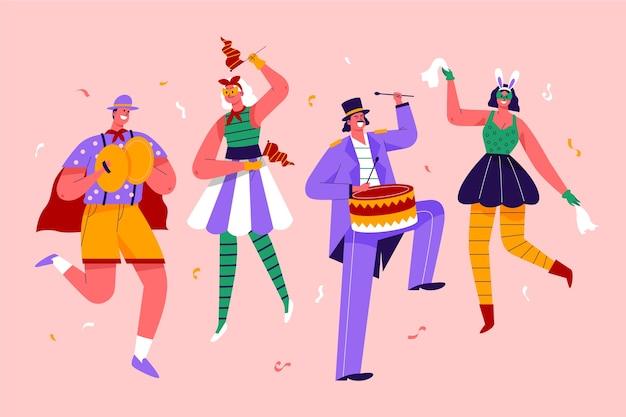 Kolekcja tancerzy karnawałowych