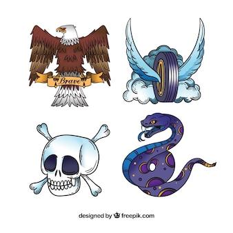 Kolekcja tatuaż zwierząt