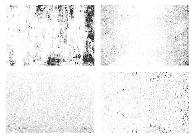 Kolekcja tekstur retro grunge biały zestaw tekstur w trudnej sytuacji