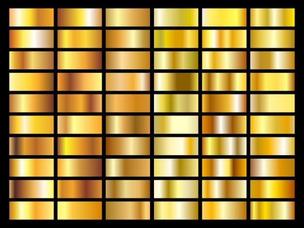 Kolekcja tekstury złotej folii
