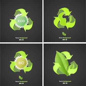 Kolekcja tła eco