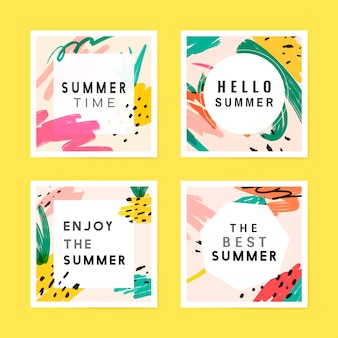 Kolekcja tła lato memphis