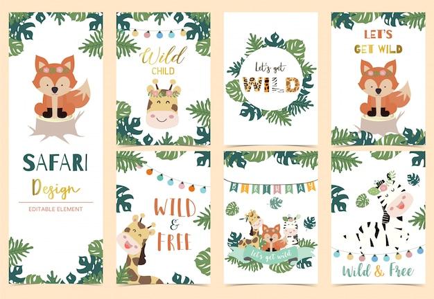 Kolekcja tła safari