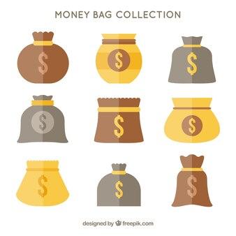 Kolekcja torby z symbolem dolara