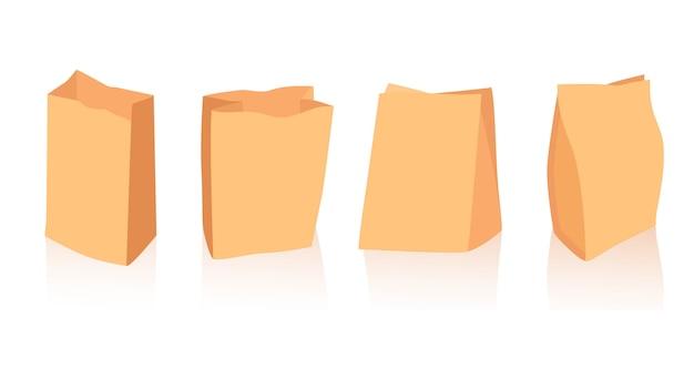 Kolekcja toreb papierowych