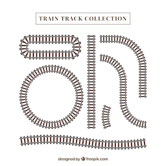 Kolekcja torów kolejowych