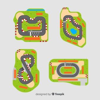 Kolekcja torów wyścigowych f1