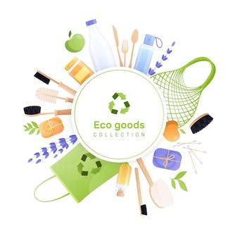 Kolekcja towarów ekologicznych