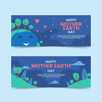 Kolekcja transparent dzień matki ziemi