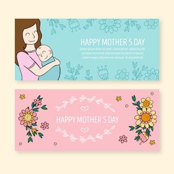 Kolekcja transparent dzień matki