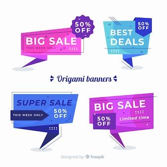 Kolekcja transparent sprzedaż origami