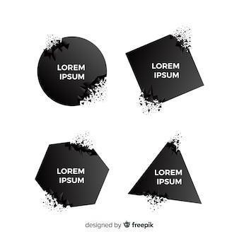Kolekcja transparentnych ciemnych wybuchów