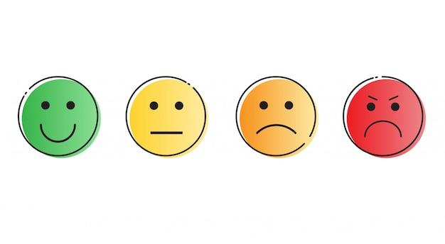 Kolekcja twarzy uśmiechu