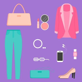 Kolekcja ubrań, ilustracja